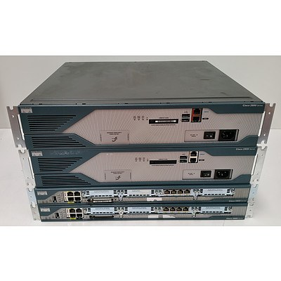 Cisco 2800 Series Integrated Services Router - Lot of Four