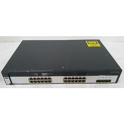 Cisco Catalyst 3750 Series 24-Port Gigabit Managed Switch