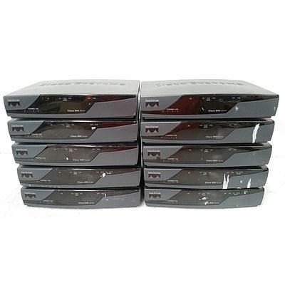 Cisco 800 Series Routers - Lot of Ten