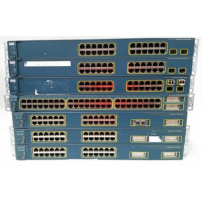 Cisco Catalyst Switches - Lot of Seven