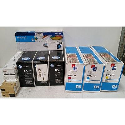 Assorted Printer Toner Cartridges - HP, Canon, Fuji Xerox & Brother