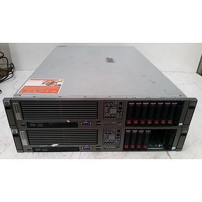HP ProLiant DL380 G5 Dual Quad-Core Xeon (X5460) 3.16GHz 2 RU Server - Lot of Two
