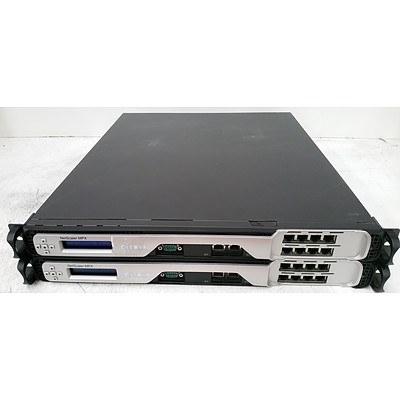 Citrix MPX-8xCu NetScaler MPX Appliance - Lot of Two