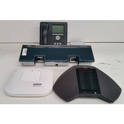 Lot of Assorted IT and Office Equipment - Office Phones, Network Modules & Access Points