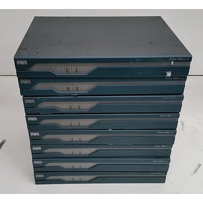 Cisco 1800 Series Integrated Services Router - Lot of Eight