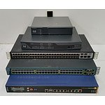 Bulk Lot of Assorted IT Equipment - Switches, KVM Consoles & Routers