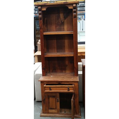 Rustic Stained Pine Wall Unit