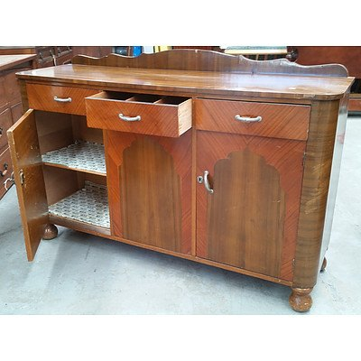 1970s Marquetry Sideboard