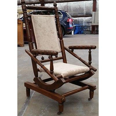 Antique Dexter Suede Rocking Chair