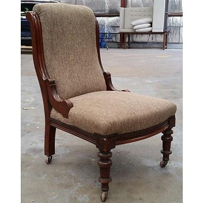 Victorian Mahogany Salon Chair