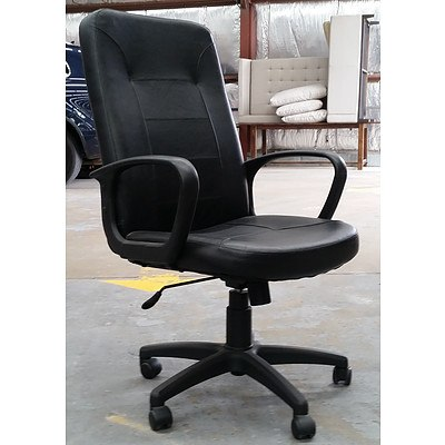 Black PU Leather Executive Chair