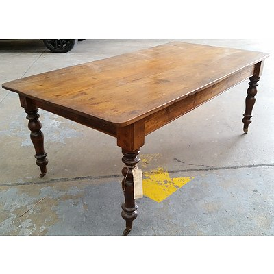 Antique Baltic Pine Farmhouse Table