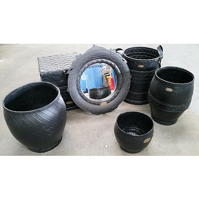 Six Retyred Outdoor Items