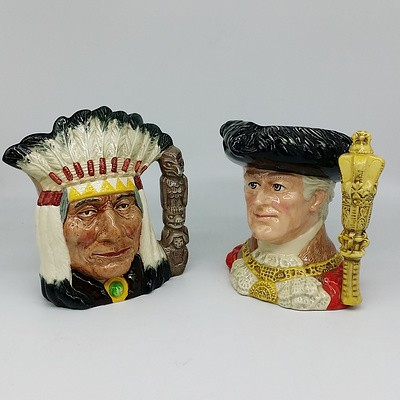 "Two Royal Doulton Toby Jugs ""The Lord Mayor of London"" and ""North American Indian"""