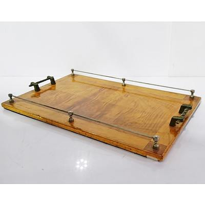 Art Deco Drinks Tray with Twisted Rope Handles and Gallery