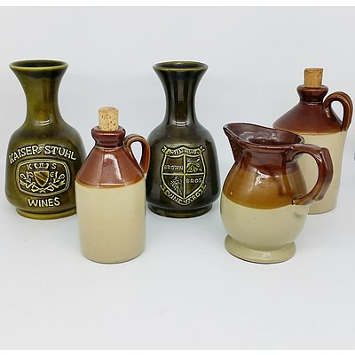 Group of Vintage Stoneware Vessels including Elischer and Pearson's Chesterfield