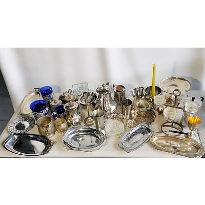 Lot of Assorted Silver Plated and Stainless Steel
