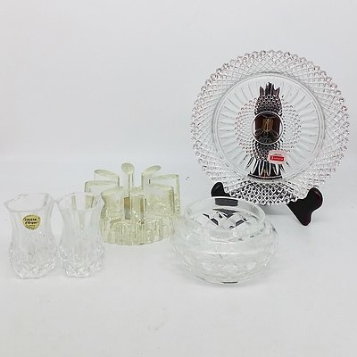 Group of Cut Crystal and Moulded Glass