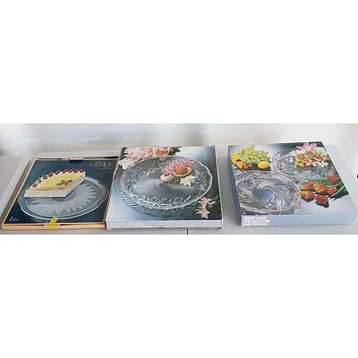 Collection of Boxed Moulded Glass Plates
