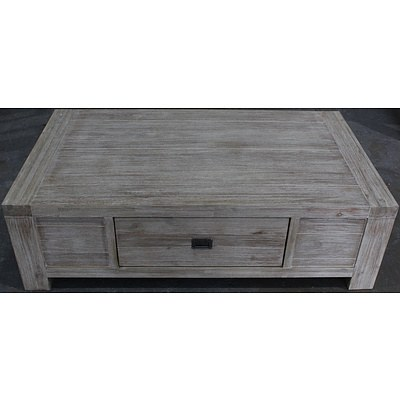 Detroit Acacia Coffee Table - Brand New