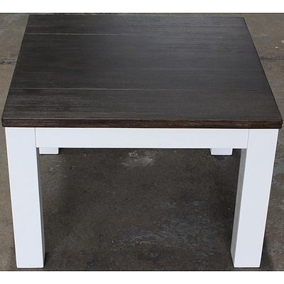 Houston Acacia End Table - Brand New