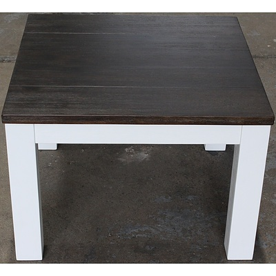 Houston Acacia End Table - Brand New