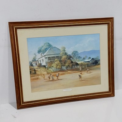 """Offset Print of d'Arcy Doyle """"The Cricket Match"""""""