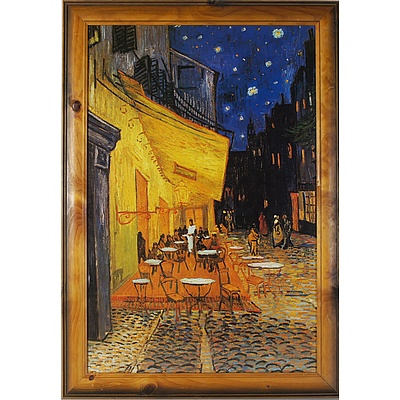 Offset Print of Vincent van Gogh Cafe Terrace at Night