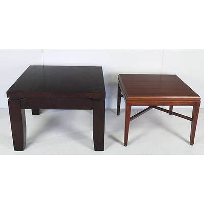 Two Contemporary Painted Coffee Tables