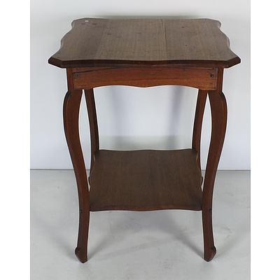 Antique Tasmanian Oak Lamp Table