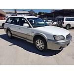11/2002 Subaru Outback H6 MY02 4d Wagon White 3.0L