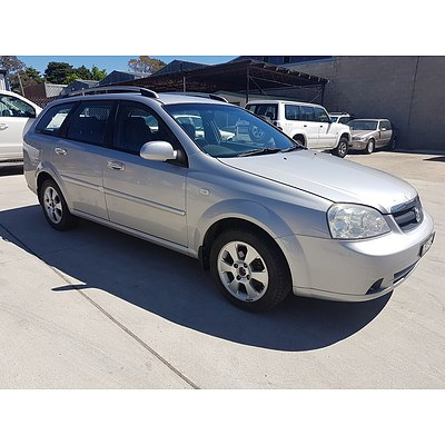 2/2009 Holden Viva  JF MY09 4d Wagon Silver 1.8L