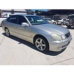 2/2000 Lexus GS300  JZS160R 4d Saloon Silver 3.0L