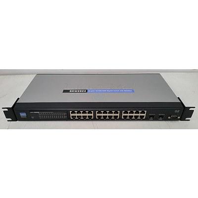 Cisco Linksys SRW2024 Business Series 24-Port Gigabit Managed Switch w/ Webview