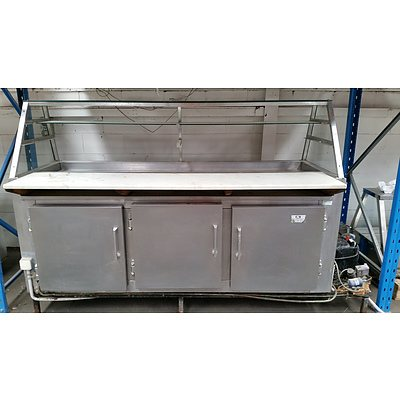 Stainless Steel Refrigerated Bench Sandwich Bar