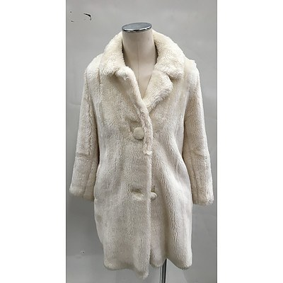 Vintage Creations by F Rees Melbourne Faux Fur Coat