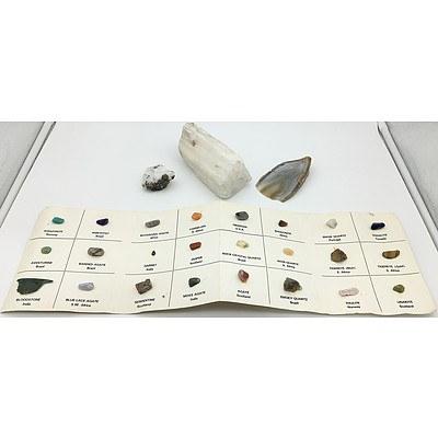 Group of Polished and Unpolished Gem Stones