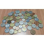 Group of Foreign Coins Including Coins From Hong Kong, Singapore and More