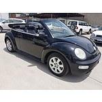 10/2004 Volkswagen Beetle Cabriolet 9C 2d Cabriolet Black 2.0L