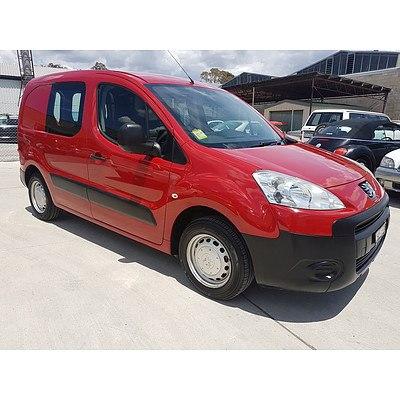 7/2012 Peugeot Partner 1.6 B9P 2d Van Red 1.6L