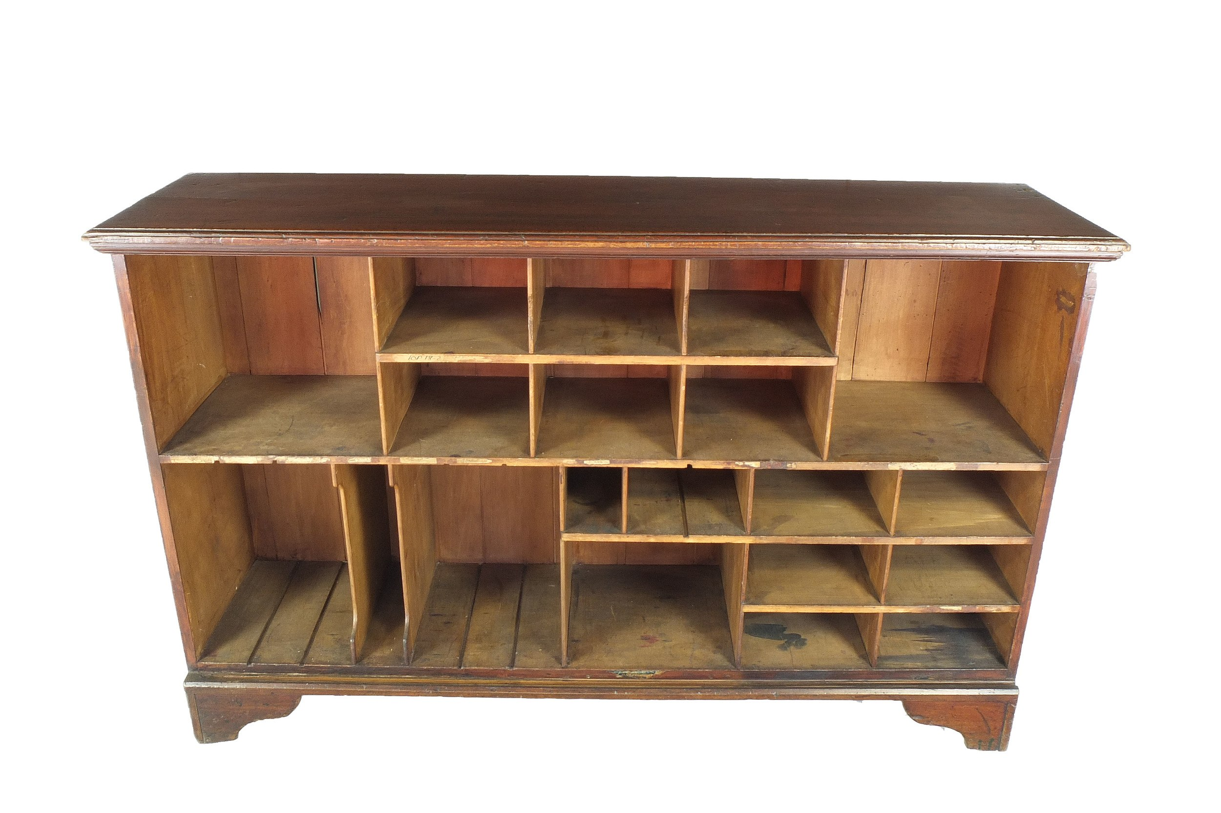 'Antique Australian Kauri Pine Post Office Pigeonhole Cabinet'
