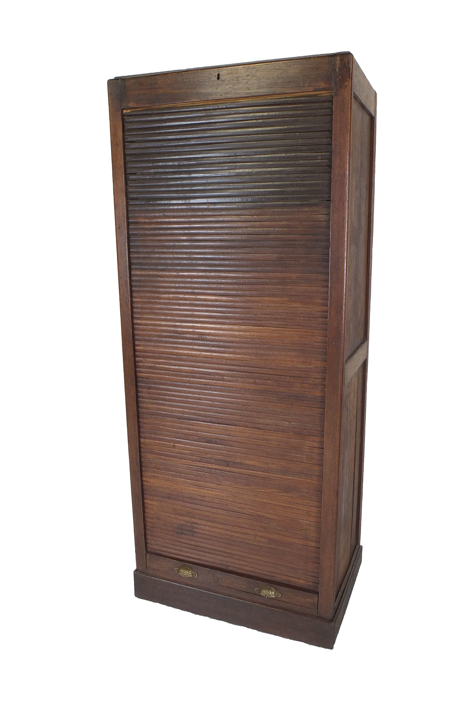 'Antique Tellers Desk with Tambour Shutter'