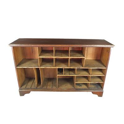 Antique Australian Kauri Pine Post Office Pigeonhole Cabinet
