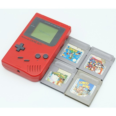 Nintendo Game Boy With Tetris, Donkey Kong, Yoshi's Cookie and More Games