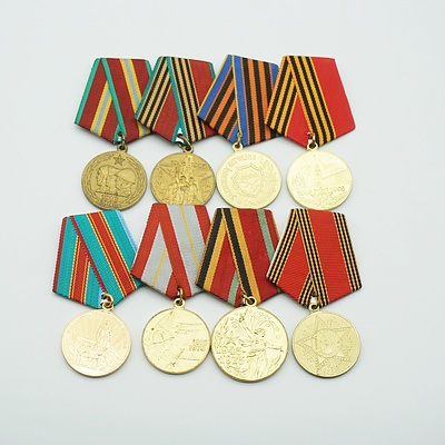 Eight Various Russian Medals