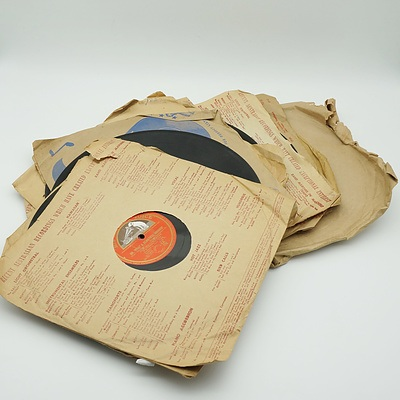 Thirteen Gramophone Records, Including Oh What a Beautiful Morning and More