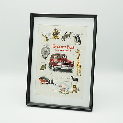 1947 Ford's Out Front Advertisment