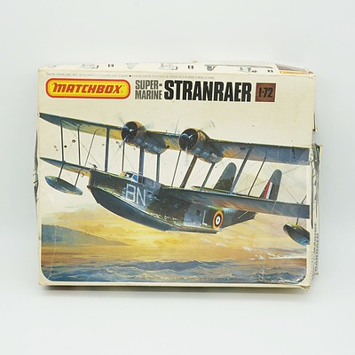 Matchbox Super Marine Stranraer and Airfix Heinkel He 177 Greif Model Kits