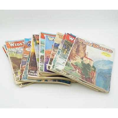 Group of Vintage The Wide World Magazines 1934 Onwards