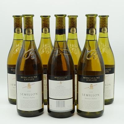Seven Rosemount Estate Semillon 1998 Show Reserve 750ml Bottles